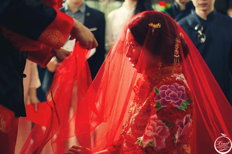 中式婚禮頭紗