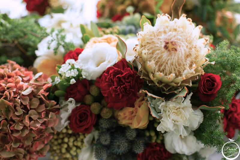 戶外婚禮花材佈置