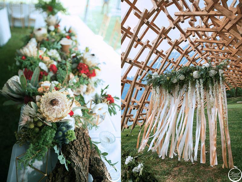 創意婚禮花藝布置