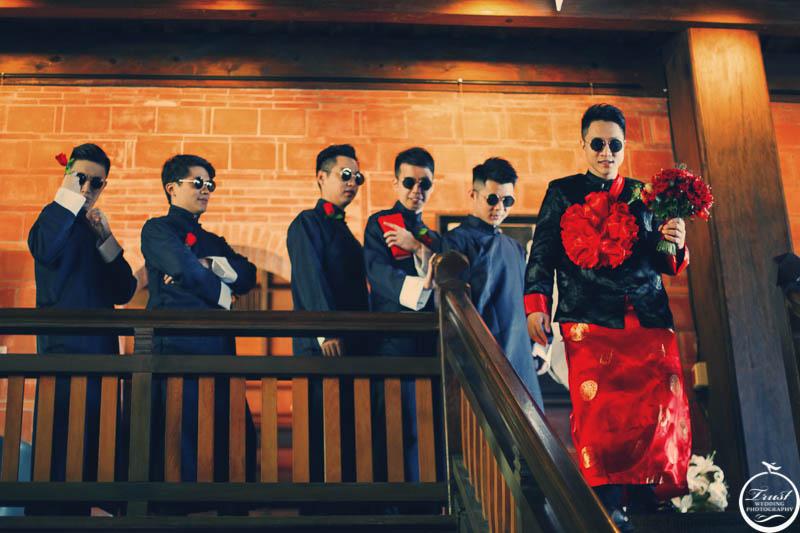 中式婚禮 馬褂