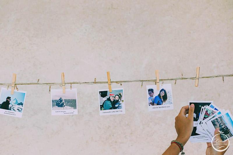婚禮照片佈置