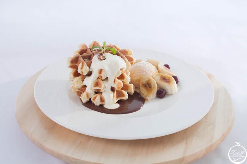香蕉巧克力鬆餅攝影