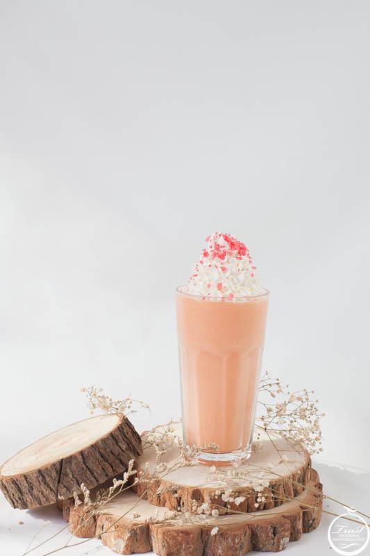 草莓奶昔飲品攝影
