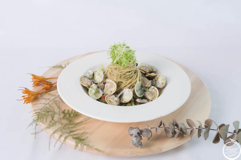 蛤蜊蒜香麵