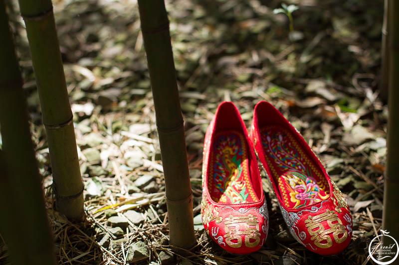 仿古婚禮繡花鞋