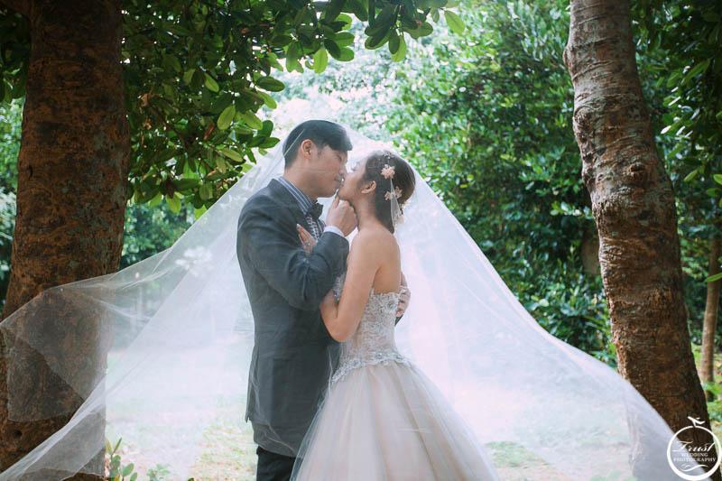 浪漫森林風婚紗