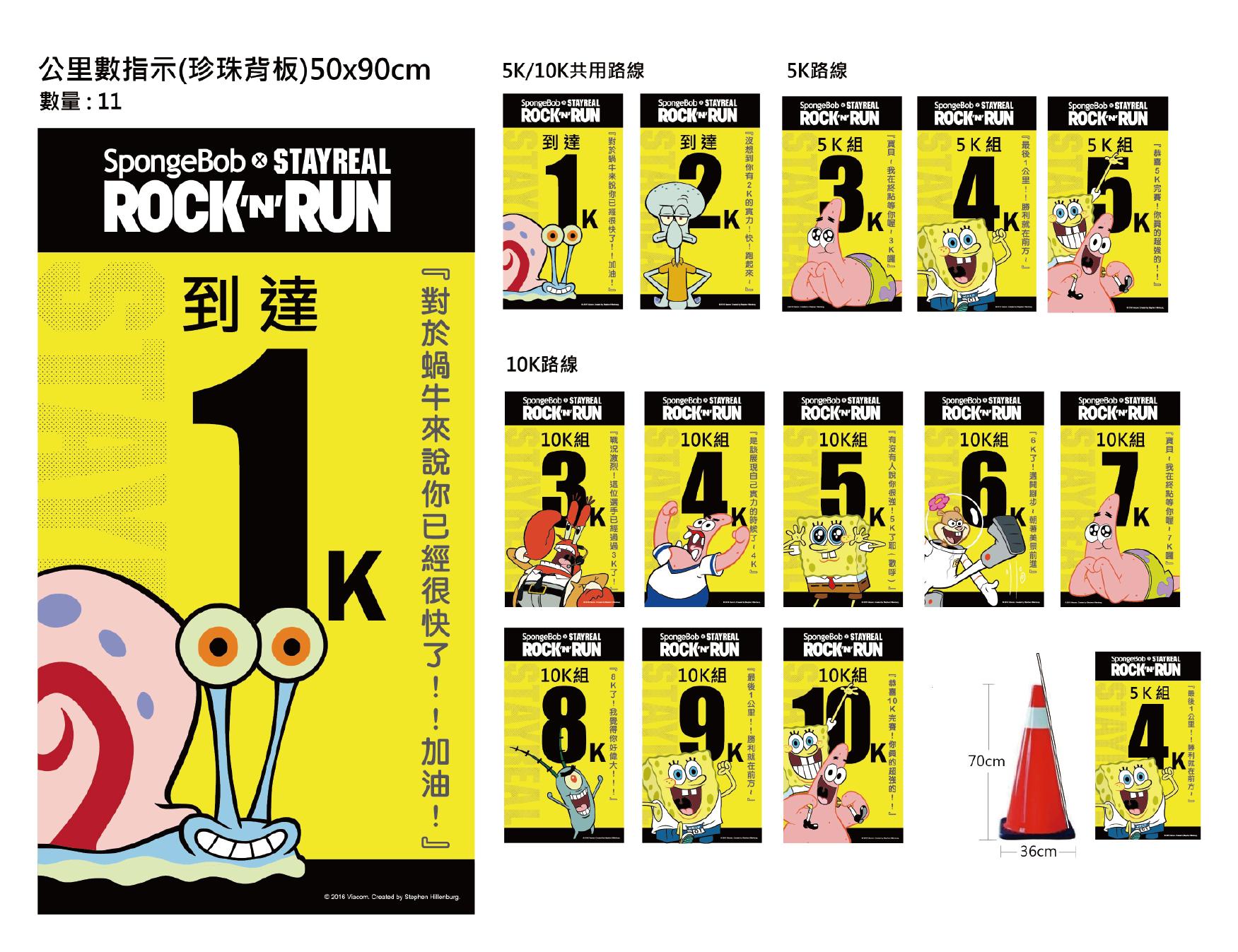 路跑公里數指示牌設計