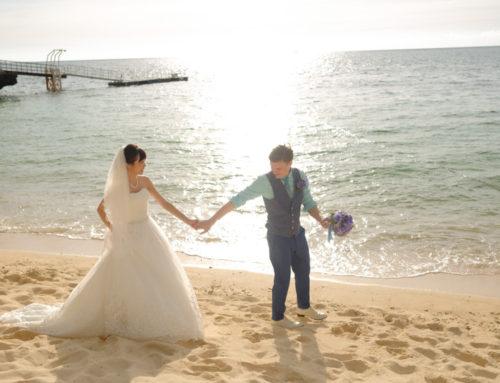沖繩教堂婚攝|海景教堂婚禮攝影|海灘夕陽婚紗照|日落婚紗攝影